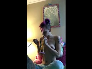 Freaky wife smoke cannabis and then strips...