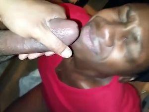 Black slut writhes when warm semen cover...