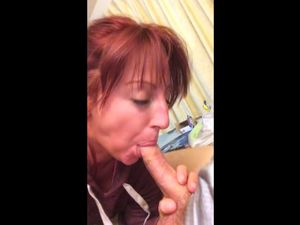 Lover filmed how redhead wife sucking cock...