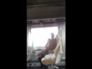 guy completely undresses and jerks off on...
