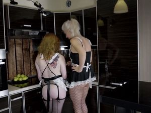 Horny housewives share husbands