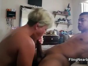 Sex hungry MILF can suck this BBC eternity
