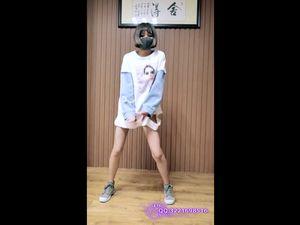 Slender asian teen show amateur strip dance