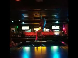 Not skilled girl stripper in the club