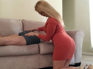 Curvy brazilian mom wakes young guy with...