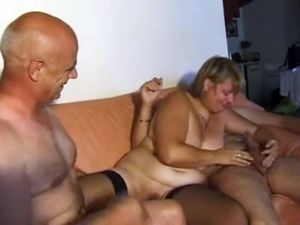 French bisexual trio with chubby wife