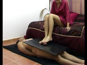 Portuguese wife doing tempting footjob