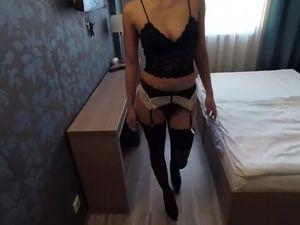 Sexy slim slut hard fucked in hotle room