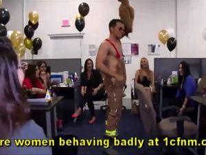 Office birthday and girl sucking...