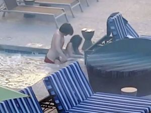 Public fucking in hotel pool