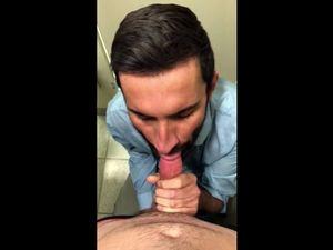 Turkish pappa sucking long cock on knees