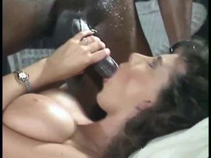 Vintage interracial video with hot mouth fuck