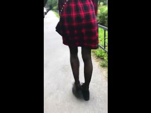 Cute schoolgirl with nice ass does blowjob...