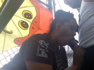 Amateur blowjob in public park video