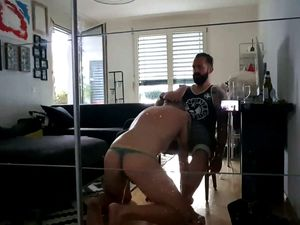 Gay dominating blowjob home video