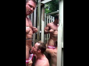 Gay man gets fantastic BJ in village