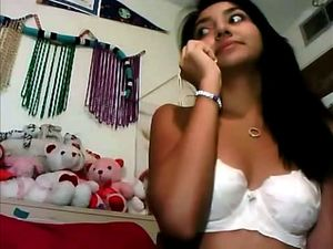 Cute Indian teen topless on webcam