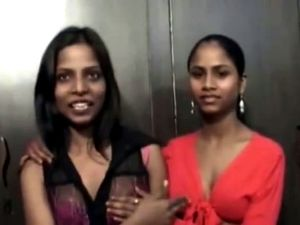 Sexy Indian lesbians dildoing each other.