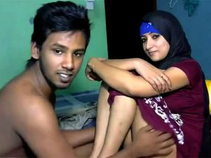 Newly married south indian couple with hot...