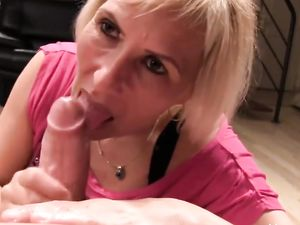 Grace blonde mature handjob and blowjob