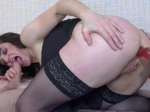 Chubby mom gets anal surprise from step son