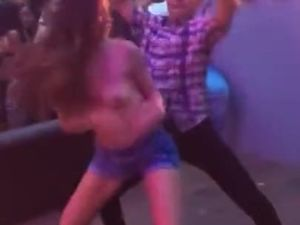 Fresher topless indian girl dancing with...