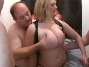 Chubby German whore with huge natural tits...