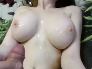 Skinny young girlfriend with huge tits...