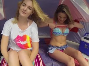 Teen girls gone wild during lesbians fun...