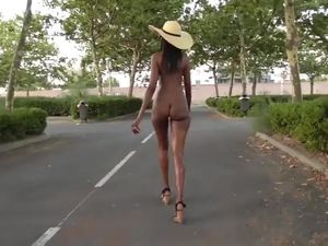 Black ass public walking