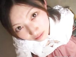japanese doll takes a very nice facial