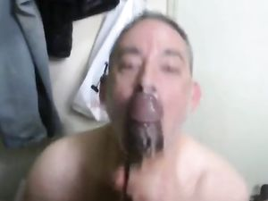 Big black cock - facial