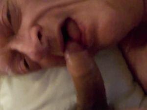 Grandpa sucks and swallows Trucker cum