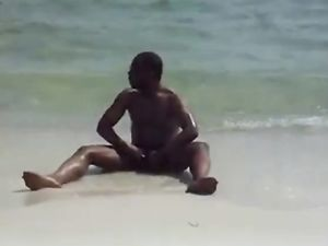 jerking off at the beach