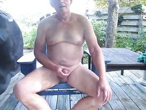 Wank on the patio