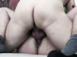 Two Amateur Daddies Fucks and Creampy