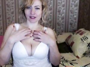 Russian blonde mature mom talks dirty