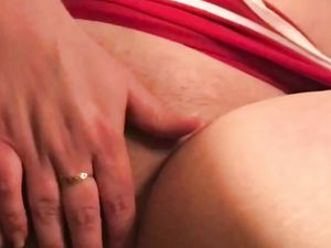 Cary t plays with her shaved pussy