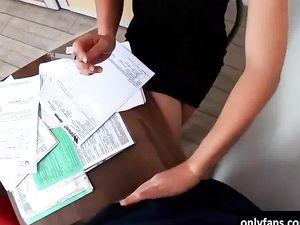 Brunette hot slutty takes strangers dick