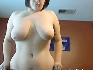 Lovely Pale Chubby Chick Webcam Tease