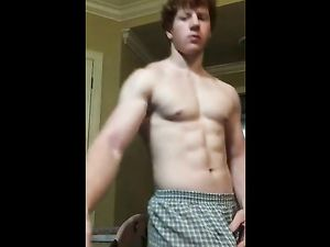 Spectacular Red Haired guy jerking off