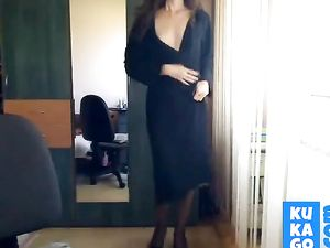 Sexy Girl Strips Naked