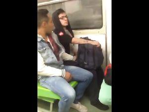 Jerks off in train