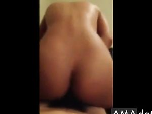 Little asian girl knows how to bounce on...