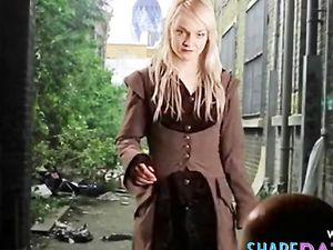 sexy lovely blonde girl striptease...