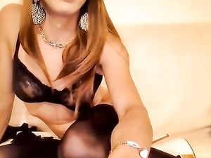 tranny Cindy Bianco webcam show -v2