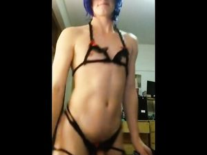 Sexy femboy dancing and teasing