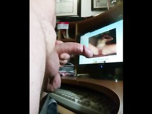Cock and cum tribute video