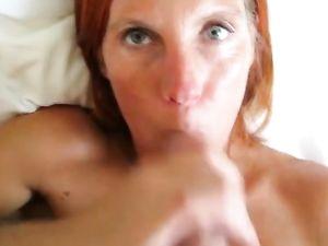Redhead MILF Facial