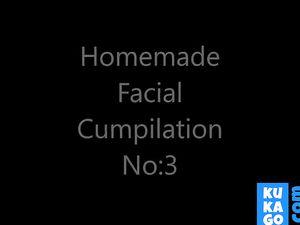 Homemade Facial Cumpilation 3